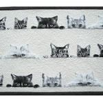 Tischset Katzen Weiss