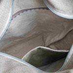 LuLu Umhängetasche, Innenfächer/Reissverschlusstasche