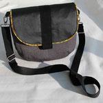 PARIS Handtasche aus Polsterstoff, Gurtband frei wählbar (Autogurt z.B.)