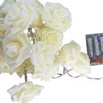 LED-Lichterkette, Rosen aus Moosgummi, 170cm, rosa od.  gelbes Licht,  (exkl. Batterien)