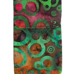 Handyhülle Batik gemustert
