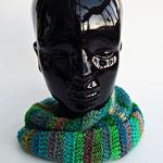 Rundschal, 100% Merinowolle, grün  handmade by Anna®