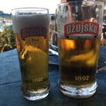 konnte uns aber nicht abhalten ;-) / but didn't keep us from enjoying the welcome beer