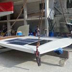 solar panels are glued on