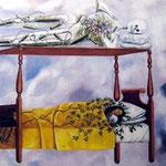 Frida Kahlo (1907-1954), Le Rêve (1940) - Huile sur toile.