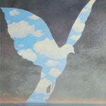 René Magritte (1898-1967), La Grande Famille (1963) - Huile sur toile.