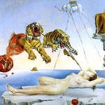 Salvador Dali (1904-1989), Rêve causé par le vol d'une abeille... (1944)