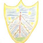 Dorffest in Zehlendorf 2013 Heidi B. gewann den Malwettbewerb und kreierte das Zehlendorfer Wappen