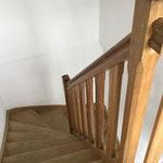 escalier et acces aux chambres à l'étage Ferme Relais de la Baie de Somme gîtes de groupe baie de somme