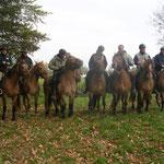 Cavaliers au départ de la Transhenson