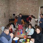 repas pic nic dans la hutte des Vieux Chênes