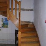 l'escalier pour l'étage Ferme Relais de la Baie de Somme gîtes de groupe baie de somme