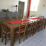 la salle à manger Les Prés Salés Ferme Relais de la Baie de Somme gîtes de groupe baie de somme