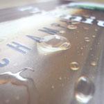 水滴部分に透明インクでリアルに