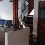 Wohnraum und Treppe