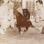 on the set with Charles Coburn and Alexander Knox