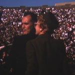 with Father Hesburgh, Irene was his guest at this day