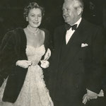 with Frank at the benefit premiere of 'The Mudlark' at Grauman's Chines Theatre in January 1951
