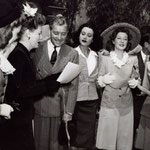 War bond tour with Ronald Coleman, Heddy Lamarr and Greer Garson