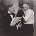 rehearsing with Adolphe Menjou and director Harry Beaumont