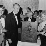 ca.1977 with Rich Little and James Stewart, unknown event; obviously James Stewart was presented with another boy scout award