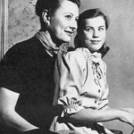 with daughter Mary Frances
