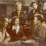 with Ward Bond, Spencer Tracy, Barry Nelson and Van Johnson
