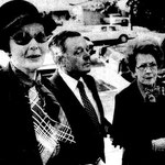 1979, November 28 - with Loretta Young and unknown companion arriving at the funeral service for Merle Oberon