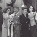 War bond tour with Greer Garson, Ronald Coleman and Heddy Lamarr