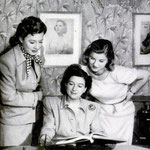 script conference with Barbara Bel Geddes and producer Harriet Parsons