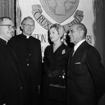 02.01.1958 - Communion breakfast at Palladium with Monsignor John J.Devlin, James Francis Cardinal MyIntyre and Frank Capra