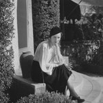 1932 - on the stairs of her home in Beverly Hills