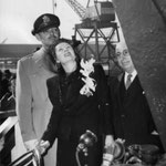 1944 January 15, launching the S.S. Carole Lombard with Clark Gable and Louis B. Mayer