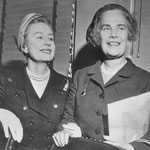 1957 Sept.16 with Mrs. Mary Pillsbury Lord, the other female member of the U.S. delegation to the United Nations