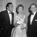 1957 with Tony Martin and Frank Sinatra