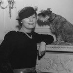 ca.1935 with her terrier