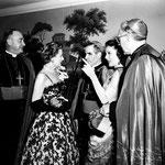 05.28.1952 - with Rev. McGrucken, Bishop Sheen, Loretta Young and Archbishop McIntyre