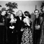 05.28.1952 - Archbishop's dinner with Archbishop James McIntyre, Governor and Mrs. Earl Warren, Bishop Fulton J. Sheen and Rev. Joseph T. McGrucken