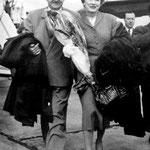 August 28 1958 arriving in Paris,Orly Airport. Irene and Frank were on their way to the Venice Film Festival and made a stopover in Paris