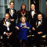 December 1985 - Kennedy Center Honors with the other honorees: Merce Cunningham, Beverly Sills, Bob Hope, Alan Jay Lerner and Frederick Loewe