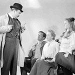 publicity -  with Oscar Homolka, Philip Dorn and Barbara Bel Geddes
