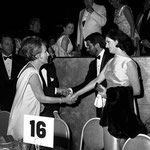 1966, June 18 - with Lynda Bird Johnson, George Hamilton and  - almost hidden - Universal Studio executive Jules Styne at a charity ball in Los Angeles