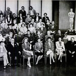 group photo of MGM's stars under contract taken for the studio's 20th anniversary