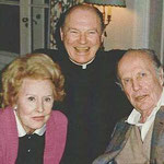 ca.1979  with Father Maurice and William Randolph Hearst, Jr.