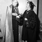 06.15.1958 - Loyola University, Chicago with James Francis Cardinal McIntyre. That day Irene was awarded an honorary doctor of laws degree.
