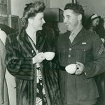 1943 with serviceman at The Hollywood Canteen