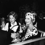 1976 August 25. - at the Hollywood Bowl, attending a concert of the Los Angeles Philharmonic Orchestra, sharing a picnic with friend Loretta Young