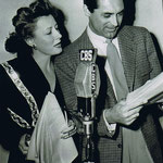 """1943 - radio production of """"Theodora Goes Wild"""" with Cary Grant"""