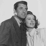 publicity for 'Penny Serenade' with Cary Grant