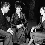 with Spencer Tracy and Ingrid Bergman on the set of 'A Guy Named Joe'